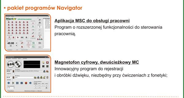 Pracownia językowa Mentor PC - pakiet programów Navigator