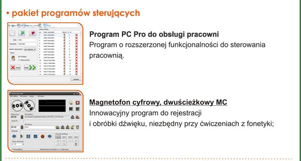 Pracownia językowa Mentor PC Pro - pakiet programów sterujących
