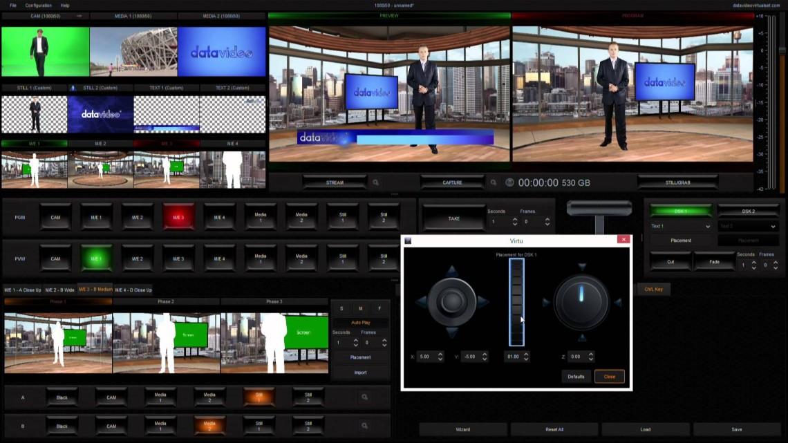 Funkcjonalność Wirtualne studio TVS